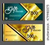 gift voucher. vector ... | Shutterstock .eps vector #479980375