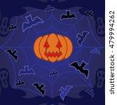 halloween background with evil... | Shutterstock . vector #479994262
