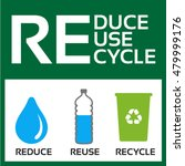 reduce reuse recycle vector eco ... | Shutterstock .eps vector #479999176