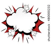 explosion boom comic effect | Shutterstock .eps vector #480000232