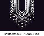 geometric ethnic pattern neck... | Shutterstock .eps vector #480016456