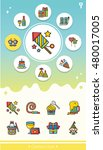 icon set party vector | Shutterstock .eps vector #480017005