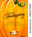 thanksgiving greeting poster.... | Shutterstock .eps vector #480019486