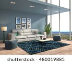 interior with sofa. 3d... | Shutterstock . vector #480019885
