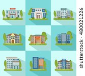 square city buildings icon set... | Shutterstock .eps vector #480021226