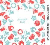 summer time vector... | Shutterstock .eps vector #480022096