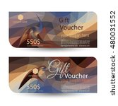 gift voucher. the combination... | Shutterstock .eps vector #480031552