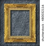 gold frame on grey black slate... | Shutterstock . vector #480032116
