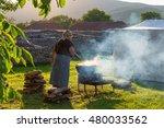 woman cooking romanian... | Shutterstock . vector #480033562