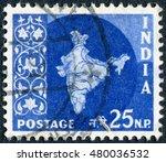 india   circa 1958  postage...   Shutterstock . vector #480036532