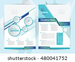a4 size medical brochure layout ... | Shutterstock .eps vector #480041752
