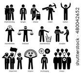 positive neutral personalities... | Shutterstock .eps vector #480042652