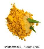 turmeric powder and turmeric... | Shutterstock . vector #480046708