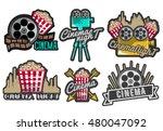 vector set of cinema labels and ... | Shutterstock .eps vector #480047092