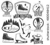 vector set of ice skating... | Shutterstock .eps vector #480048412