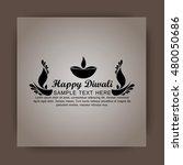happy diwali illustration ... | Shutterstock .eps vector #480050686
