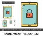 encrypted data vector line icon ...   Shutterstock .eps vector #480054832