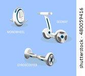 segway. monowheel or solo wheel.... | Shutterstock .eps vector #480059416