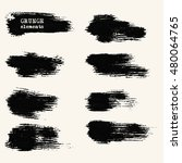 vector set of black brush... | Shutterstock .eps vector #480064765