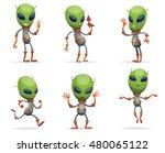 vector set of cartoon images of ... | Shutterstock .eps vector #480065122