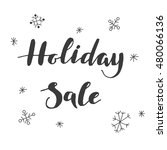 holiday sale lettering | Shutterstock .eps vector #480066136