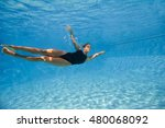 young female athlete swimming... | Shutterstock . vector #480068092