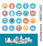 milk production  icons set.... | Shutterstock . vector #480071602