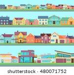 big set of houses  buildings ... | Shutterstock . vector #480071752