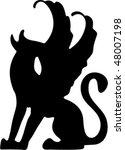 silhouette of gargoyle | Shutterstock .eps vector #48007198