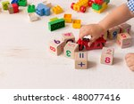 close up of child's hands... | Shutterstock . vector #480077416