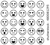 set of emoticons. set of emoji. ... | Shutterstock . vector #480081295