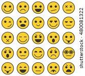 set of emoticons. set of emoji. ... | Shutterstock . vector #480081322