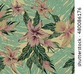 vector seamless floral pattern... | Shutterstock .eps vector #480086176