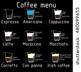coffee menu   drawing | Shutterstock .eps vector #480099655