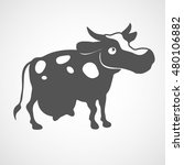 vector flat cow icon. isolated. ...
