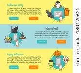 vector vertical banners with... | Shutterstock .eps vector #480120625