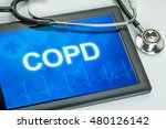 tablet with the diagnosis copd... | Shutterstock . vector #480126142