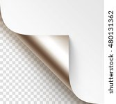 vector platinum curled glossy... | Shutterstock .eps vector #480131362