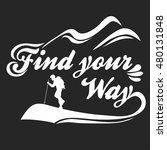 find your way. hand drawn... | Shutterstock .eps vector #480131848