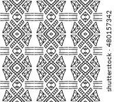 aztec seamless vector pattern.... | Shutterstock .eps vector #480157342