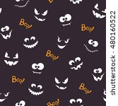 seamless pattern with spooky...   Shutterstock .eps vector #480160522
