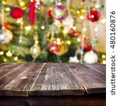 christmas table for  background  | Shutterstock . vector #480160876