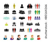 people icons set   isolated on... | Shutterstock .eps vector #480164266