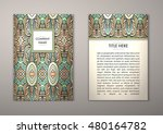 flyer template with abstract... | Shutterstock .eps vector #480164782