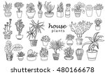 big set of house plant isolated.... | Shutterstock .eps vector #480166678
