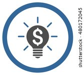 business idea bulb rounded icon....   Shutterstock . vector #480172045
