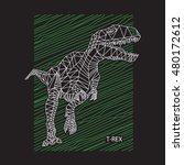 dinosaur t rex illustration  ... | Shutterstock .eps vector #480172612