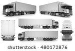 6 x big truck background  ... | Shutterstock . vector #480172876