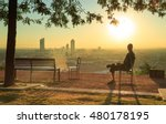 man sitting on a chair and... | Shutterstock . vector #480178195