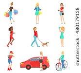 women and girls different... | Shutterstock .eps vector #480179128